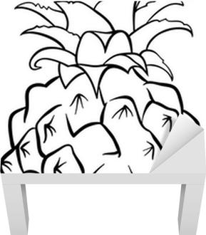 Poster Ananas Per Il Libro Da Colorare Pixers Viviamo Per Il
