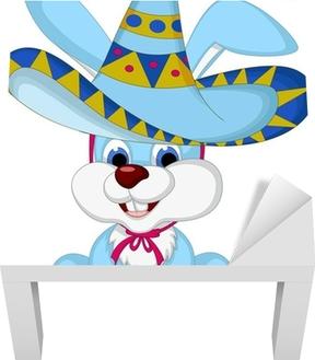 Carta da Parati Cartone animato divertente del coniglio in posa con  cappello da cowboy • Pixers® - Viviamo per il cambiamento 14d9d9e0a6ef