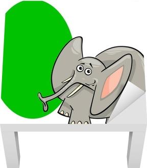 Poster ellisse forma con elefante cartone animato u2022 pixers