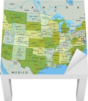 Stati Uniti Cartina Politica.Poster La Mappa Politica Modificabile Altamente Dettagliata Con Strati Separati Stati Uniti D America Pixers Viviamo Per Il Cambiamento