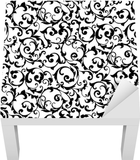 Adesivo per Tavolino Lack Nero senza soluzione di modello, silhouette