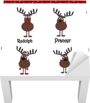 Nomi Renne Babbo Natale.Poster Renne Cartoon Babbo Natale Con I Nomi Pixers Viviamo Per