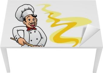 Poster Cartoon panettiere pizzaiolo di cucina • Pixers® - Viviamo per il  cambiamento 12555a9fb544