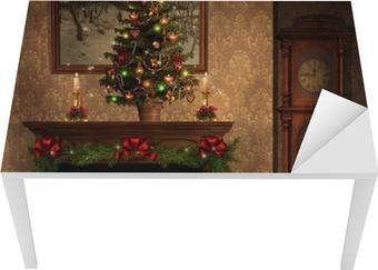 Decorazioni Sala Natale : Carta da parati natale sala con camino e decorazioni u2022 pixers