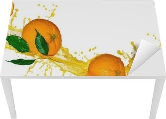 Adesivo per Tavolo & Scrivania Succo d'arancia isolato su bianco