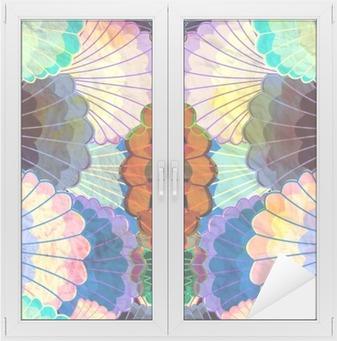 Adesivo per Vetri & Finestre Acquerello multicolore elementi astratti