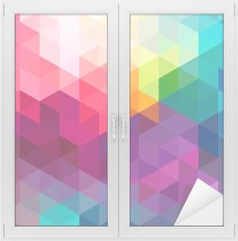 Adesivo per Vetri & Finestre Astratto sfondo colorato seamless