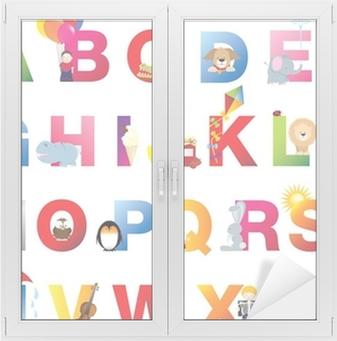 Adesivo per Vetri & Finestre Completa bambini alfabeto