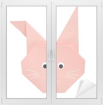 Quadro su Tela Coniglietto di Pasqua Origami 390834525f53