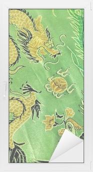 Adesivo per Vetri & Finestre Drago e fenice, di seta cinese ricamo