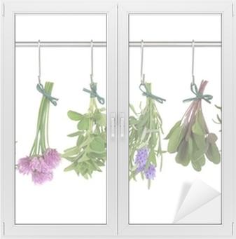 Adesivo per Vetri & Finestre Erbe Hanging ed asciugatura