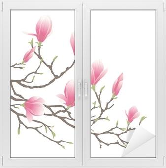 Adesivo per Vetri & Finestre Fiore di Magnolia
