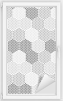 Adesivo per Vetri & Finestre Hexagon Illusion modello