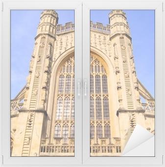 Poster La Facciata Gotica Di Abbazia Di Bath In Inghilterra