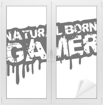 Adesivo per Vetri & Finestre Natural Born Gamer Stempel Graffiti