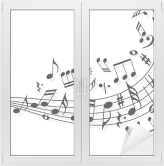 Adesivo per Vetri & Finestre Note di musica