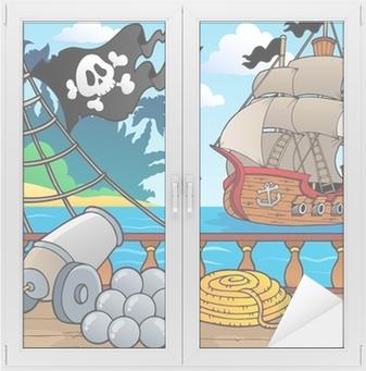 Adesivo per Vetri & Finestre Pirate mazzo tematico nave 4
