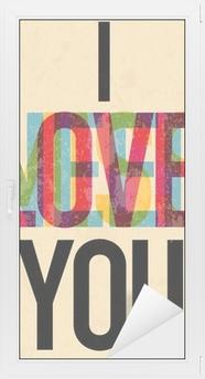 Adesivo per Vetri & Finestre San Valentino Day tipo di testo calligrafico