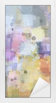 Adesivo per Vetri & Finestre Texture di sfondo con cerchi e quadrati
