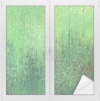 Adesivo per Vetri & Finestre Vernice acrilica carta texture di sfondo verde