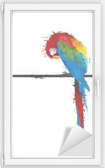 Adesivo per Vetri & Finestre Vettore pappagallo, graffiti