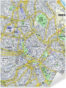 Adesivo Pixerstick Pianta della città Wien