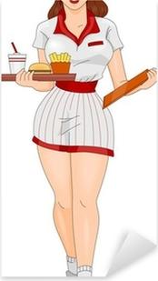 Adesivo Pixerstick Pin-up Girl Waitress
