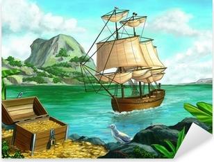 Adesivo Pixerstick Pirate Island