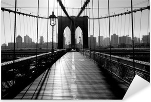 Adesivo Pixerstick Ponte di Brooklyn, Manhattan, New York City, Stati Uniti d'America