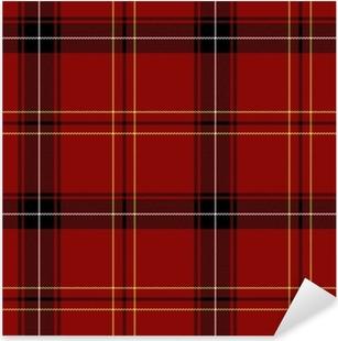 Adesivo Pixerstick Red Tartan Seamless Pattern