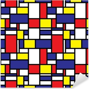 Adesivo Pixerstick Retro Motivo griglia senza soluzione di continuità