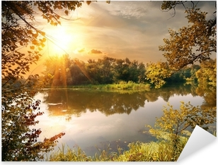 Adesivo Pixerstick River in ottobre