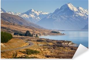 Adesivo Pixerstick Road to Mount Cook Nuova Zelanda