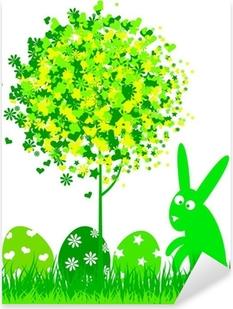 Carta da Parati Coniglietto di Pasqua che punta a bandiera • Pixers® -  Viviamo per il cambiamento 88cdecc6c62f