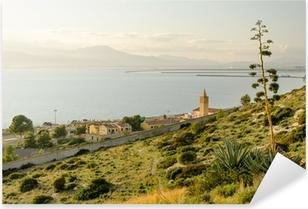 Adesivo Pixerstick Sardegna, Cagliari, panorama del Capo Sant'elia