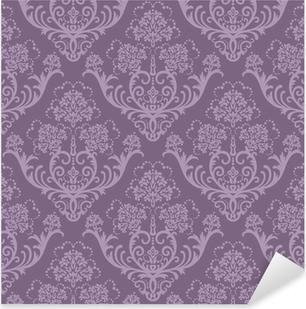 Adesivo Pixerstick Seamless carta da parati floreale viola