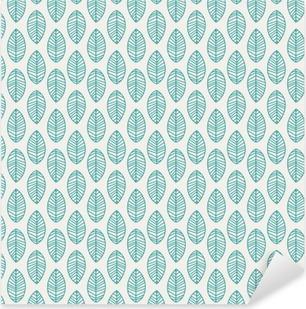 Adesivo Pixerstick Seamless pattern con foglie