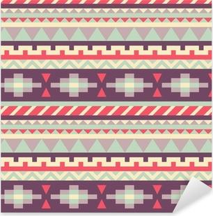 Adesivo Pixerstick Seamless pattern in stile nativo americano