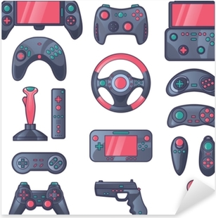 Adesivo Pixerstick Set di icone di colore gioco gadget