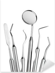 Adesivo Pixerstick Set di strumenti di cure dentistiche