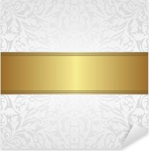 Quadro Su Tela Sfondo Bianco E Oro Pixers Viviamo Per Il