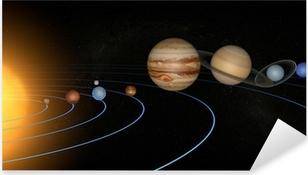 Adesivo Pixerstick Sistema solare pianeti spazio universo sole