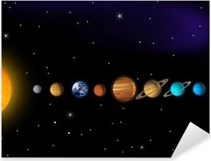 Adesivo Pixerstick Sistema solare