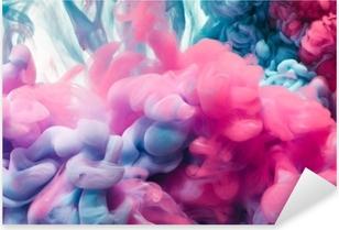 Adesivo Pixerstick Spruzzata di inchiostro a colori. sfondo astratto