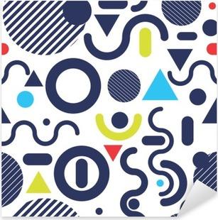 Adesivo Pixerstick Stile di moda Memphis modello moderno colore di sfondo