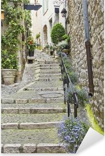 Adesivo Pixerstick Street nella città medievale di Saint Paul de Vence, France