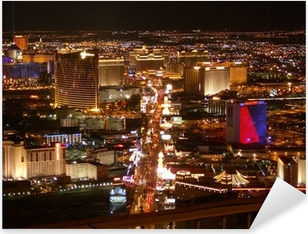 Adesivo Pixerstick Strip di Las Vegas di notte