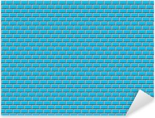 Adesivo Pixerstick Subway Tile-blu