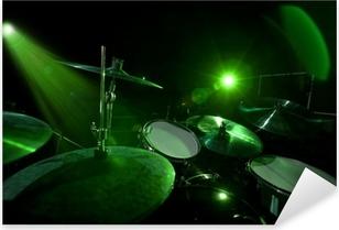 Adesivo Pixerstick Tamburi in luce verde