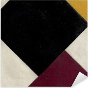 Adesivo Pixerstick Theo van Doesburg - Contro-composizione XI